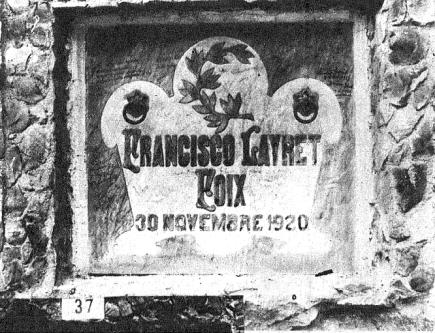 Tumba cementerio civil Montjuic_1931_Francesc Layret-La Calle 25-09-1931
