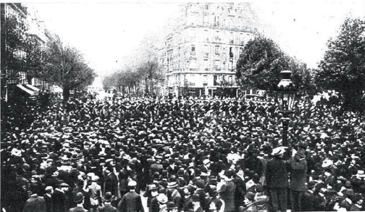 08_Fusilamiento de Ferrer GUardia_Mnifestacx en Paris_paris 1909