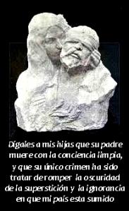29_Boceto del busto de Ferrer_escultor Derre_Ferrer en el momento de la ejecución sostenido por su hija predilecta Trinidad_Lisboa_