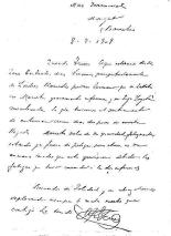 Carta de Ferrer a Trinidad_8 julio de 1909_carasycaretas 13-11-1909