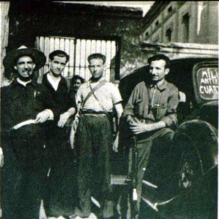 Comite de Guerra Caspe_Mogrovejo, Joaquin Ascaso, Valeriano Gordo, Antonio Ortiz_Vu nº especial 29-08-1936