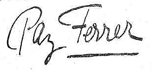 Firma Paz Ferrer