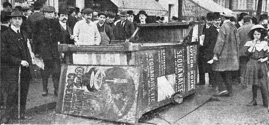 Manifestacion Pro Ferrer_París 13-10-1909_disturbios