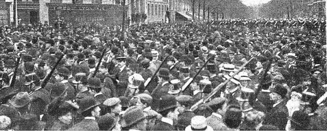 Manifestacion Pro Ferrer_París 13-10-1909_PL Malesherbes