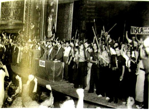 Mitin UGT-PSUC-Barcelona-agosto 1936
