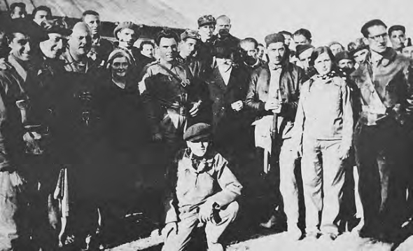 vista Frente_Sol Ferrer y Olga, con Durruti y Sebastian Faure_septiembre 1936_