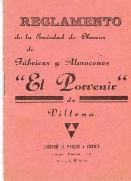 00_Portada Reglament Porvenir_Villena