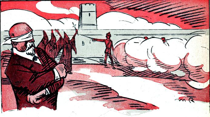 Fusilamiento de Ferrer__L'Assiette au beurre 1909_Radiguet