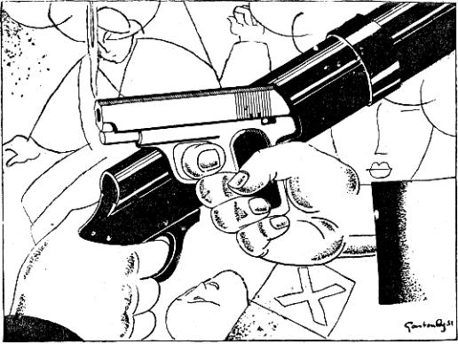 fusiles contra pistolas