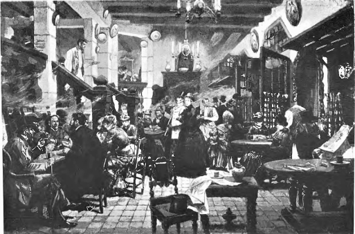 interior cabaret paris_finals sxix_dibuix a ploma_jl pellicer_butlleti museos bcn_08-1931
