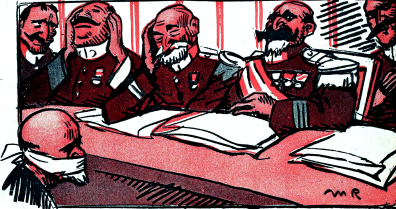 La Justicia española_L'Assiette au beurre 1909_Radiguet