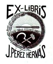 Perez Hervás_ex Libris