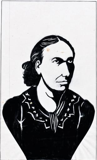 00_Luisa Michel-portrait_Louis Lemercier de Neuville [bnf]