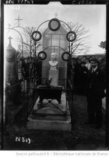 vista_tombe de Louise Michel au cimetière de Levallois 1921