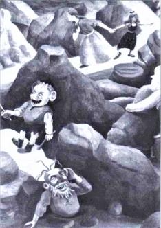 Ilustración_La princesa y los Trasgos_Siruela 1995