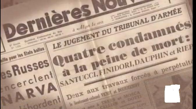 Artículo de la condena de muerte –Periódico Dernières Nouvelle