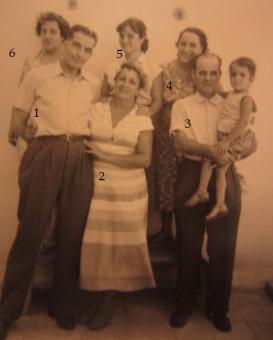 FAMILIAs PONS, LUCAS Y BERNABEU_1-Liberto, 2-Tía Conchita Pons, 3-Federico Lucas, 4-Teresa Pons, 5- Helene Lucas, 6- Consuelo Pons