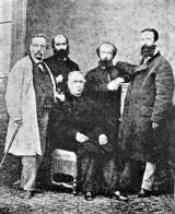 0_Fernando Garrido, ElíasReclus, Arístides Rey y GiuseppiFanelli. Sentado, José María Orense_Valencia 18-11-1868