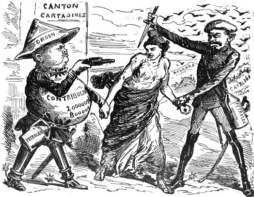 Cantonales e Internacionalistas La Campana de Gracia 31-08-1873