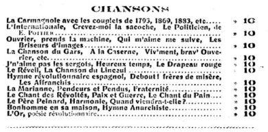 Canciones Proletarias_Francia
