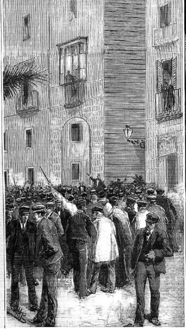 Grabado_Manifestacion 1 mayo Barcelona_La Ilustracx Española y Americana 08-05-1890 (2)