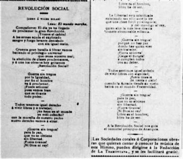 Hoja_Himno anarquista II Certamen Socialista_JLlunas en La Tramontana 15-11-1889