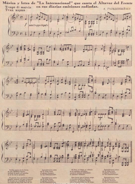 Hoja_partitura de La Internacional_Himno