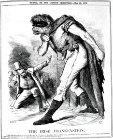 Frankenstein politico_caricatura_monstruo_Irish_Frank_1882_John Tenniel