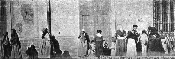 grupo Obreras salida FCa Denia 1900