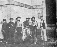Montjiuc 1909_grupo revolucionarios pendientes de condena_Solidaridad Obrera 13-10-1955
