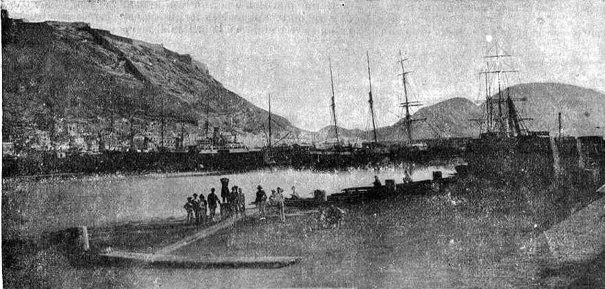 vista del puerto Alicante_1900