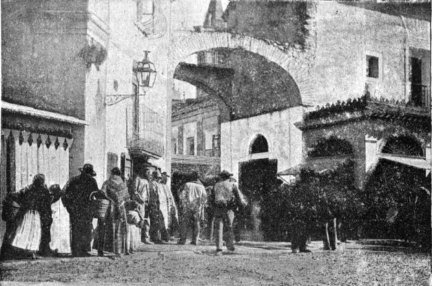 vista Entrada mercado_Villena_1900