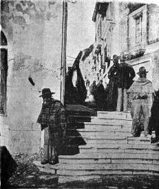 vista escalinata de la fuente_Villena 1900