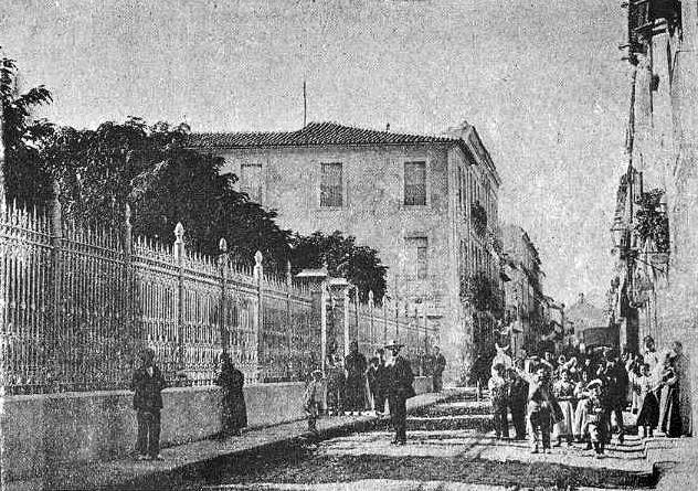 vista Novelda casino y calle san roque_1900