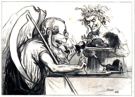 caricatura Proudhon_PJ Saturne devorant ses propes enfants_Cham_Bib Bordeaux