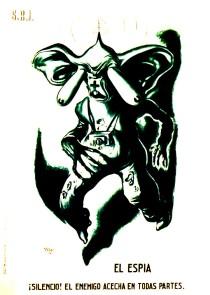Cartel SRI_Caricatura Puyol_El Espia_guerra española