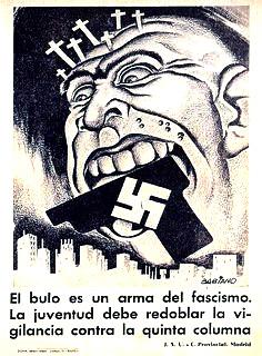Frankenstein monstruo politico_Cartel_Bulo como arma del fascismo Quina Columna_guerra civil