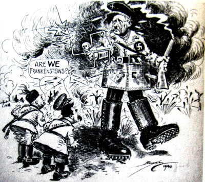 Frankenstein monstruo politico_Nazism_Washington Post 1940_Berryman