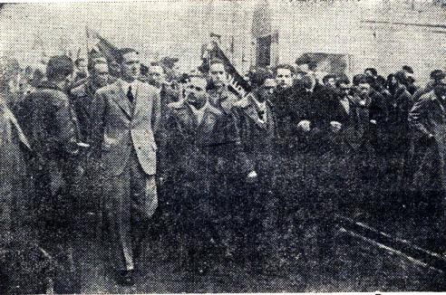 grupo_Entierro víctimas atentado sede JSU Bilbao_18-02-1937