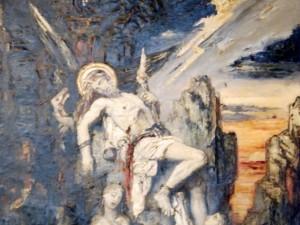 Gustave Moreau_Prométhée foudroyé_inacabado