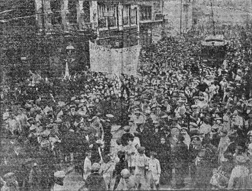 Manifestación contra la guerra Valencia 22-12-1913