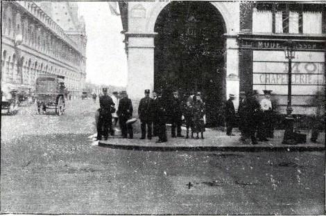 Atentado rue Rohan_Lugar de la explosión_París 1905_Le_Grand_illustré___journal