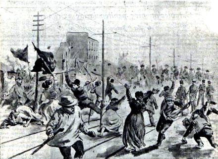Carga policial 4 Caminos_Madrid marzo 1905_Melendez