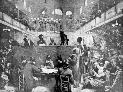 Club Anarquista_grabado cuadro Jean Beraud_1892 abril 25_01
