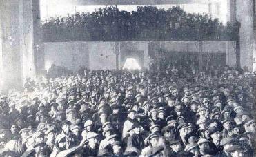 Huelga 1916_Asamblea valencia sin pan