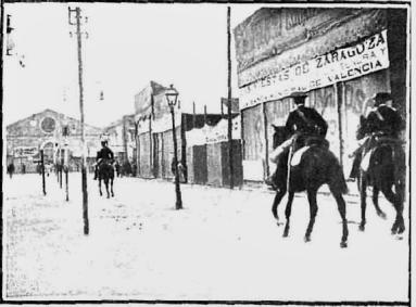Huelga enero 1905 Valencia_Carga en zona Feria_Nuevo Mundo 19-01-1905