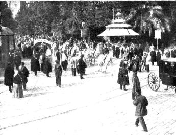 Huelga enero 1905 Valencia_Paseo San Francisco_Nuevo Mundo 19-01-1905