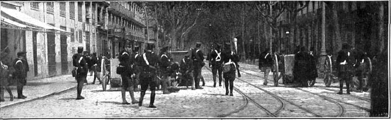 Huelga General 1919 Valencia_Artilleria calle Colon_Nuevo Mundo 04-04-1919
