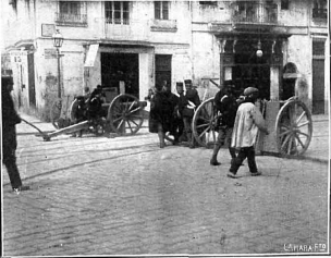 Huelga General 1919 Valencia_Artilleria calle Pi y Margall_Nuevo Mundo 04-04-1919