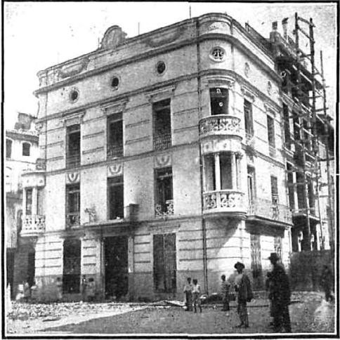 Huelga septiembre 1911 Valencia_Destruccion casa ex-alcalde de Alcira_Nuevo Mundo 28-09-1911